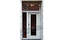ADLO - Security door ADUO, glass P100, with top and side-skylight