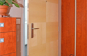 ADLO - Security door Aduo, natural Veneer Figura atypical, ADLO security door guard