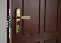ADLO - security door ZENEX, profile F155, door surface natural varnished Veneer