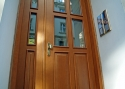 Double-wing ADLO - Security Termo door TEDUO - entrance into an apartment house, glass, panel
