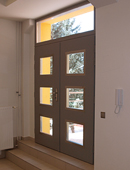 ADLO double-wing security door ADUO, glass with skylight, unit dimensions 180/270cm